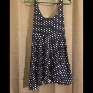 Short polka dot skater dress